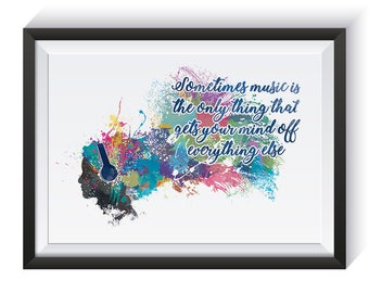 Free the mind // Watercolour art print // Poster // quotes // more options available