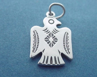 THUNDERBIRD Charm .925 Sterling Silver Native American INDIAN Pendant - sc014