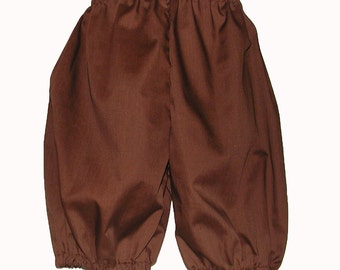 Brown Costume Britches for Boys: Size 10 / 12