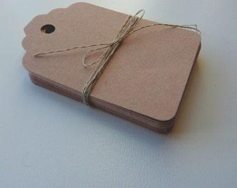 medium size linen buff beige brown colour plain card price hang gift tags