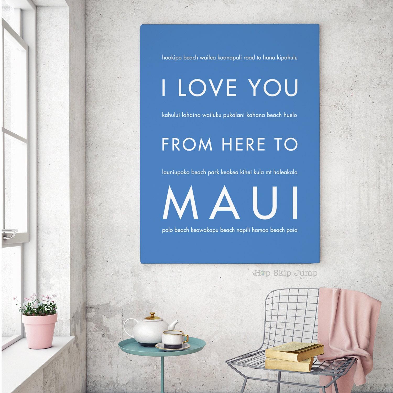 Wedding Gifts From Hawaii: Maui Art Maui Wedding Maui Poster Hawaii Gift Beach