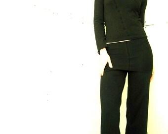 FOLDED WAIST PANTS womens pants, yoga pants, black pants, handmade pants, custom clothing, best selling pants, maternity pants, comfortable