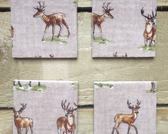 Stag Coasters (set of 4)