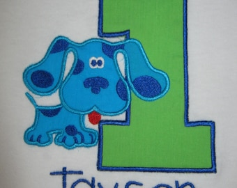 Blues Clues Personalized first Birthday Shirt