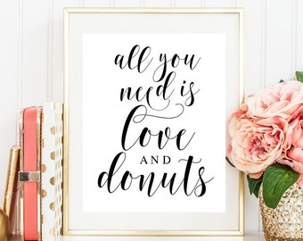 All you need is love and a donut sign Donut wedding sign Doughnut party Princess wedding Fairytale wedding ideas Donut party supplies  #vm31