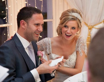 Bridal Headband, Weddings, Bridal Headpiece, Bridal Rhinestone Headband, Statement, Crystal Ribbon Headband, Wedding Headband, Bridal