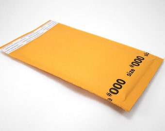 50 - Kraft Bubble Mailer 4 x 8 Size 000 Padded Mailer