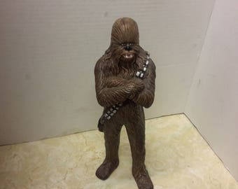 star wars chewbacca plastic molded figure 1993 made by out of charactor.