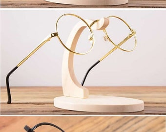 wooden Eyeglass, Sunglasses Display Stand Holder