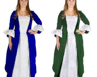 Women's Adult Colonial Lady Dress - Colonial Costumes for Women - 1700s & 18th Century Period Clothing