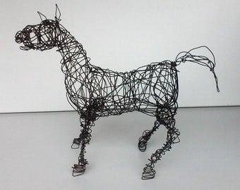 Unique Wire Horse Sculpture - HAPPY NEIGH