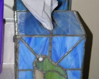 Customized Stained Glass Tissue Box Cover