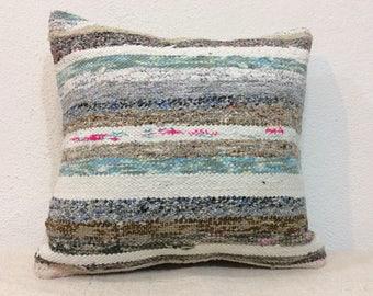 Kilim pillow cover,16x16 pillow,handwoven pillow,decorative pillows,cushion cover,40x40 cm kissen