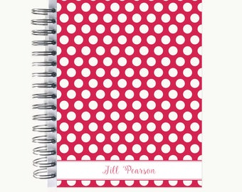 Daily Sidekick Planner – Personalized  | Monthly Calendar | To Do List | Hourly | 2018-2019 | Agenda | Bound | Bold Dot R