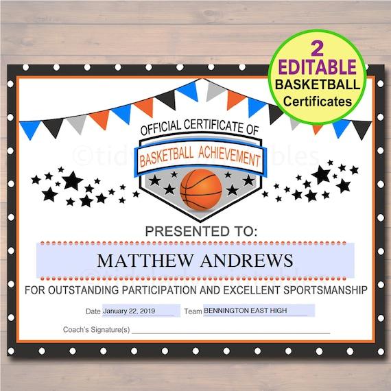 printable sports certificates