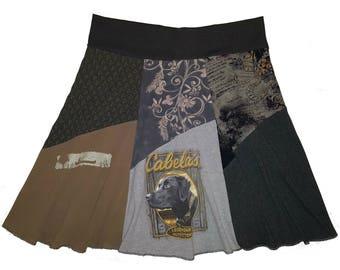 Curvy Women Black Lab 2X 3X Cute Plus Size Upcycled Skirt Boho Hippie Skirt Best Selling Plus Size Item Twinkle Skirt twinklewear