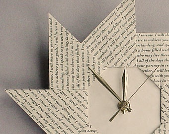 First Anniversary Gift For Couple - First Wedding Anniversary - Spiral Origami Clock