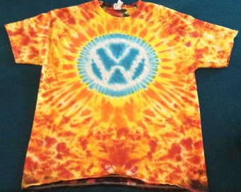 Tie Dye VW T-shirt shirt hand made customizable FREE SHIPPING Tye die Tie Dyed Volkswagen Symbol
