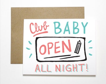 New Baby Card- Club Baby