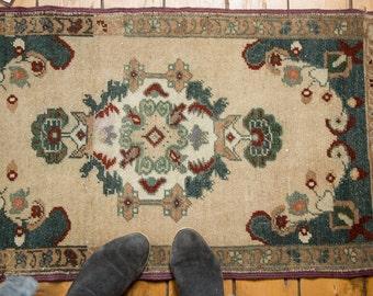 2x3.5 Vintage Oushak Rug Mat