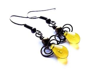 Wire Jewelry Tutorial , Earrings Tutorial, DIY Earrings, For Begginners, Easy Wire Wrapping Tutorial - tutorial IX
