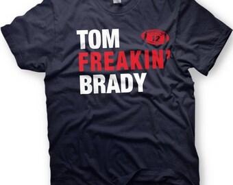 Tom Brady Shirt- New England Football  -  Number 12 - Funny shirt