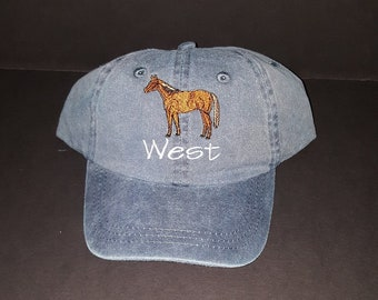 Personalized Toddler Kids Horse Baseball Cap Custom Embroidered Kids Baseball Cap Custom Design Unisex Baseball Cap Horse Theme Baseball Hat