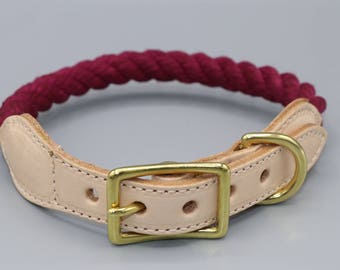 "Twined collar ""Natural"""