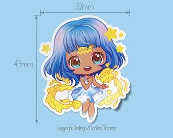 Zodiac Chibis Series - Aquarius planner sticker