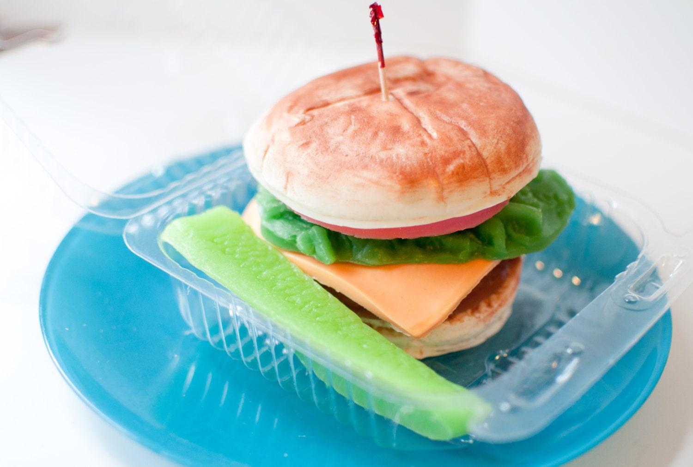 Cheeseburger Soap - man gift - Burger - Pickle soap - fake food soap - Diner food soap
