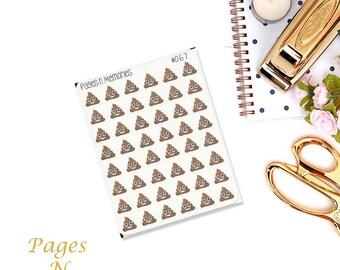 Poo Emoji Planner Stickers/ Decorative Stickers/Erin Condren/ Plum Paper/ Recollections/ Happy Planner #067