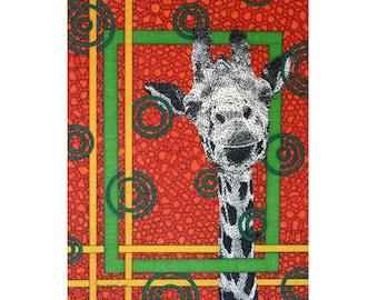 Orange Giraffe Card - Wildlife Stationery - Blank Greeting Card - Wild Birthday Card - Animal Stationery - Safari Card - Zoo Kingdom