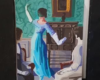 Art Deco dancing lady