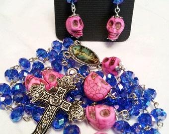 Day of the Dead Sugar Skull Rosary