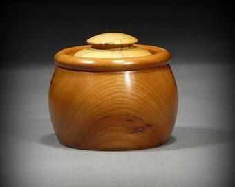 Wooden Beanpot Keepsake Box, Cherry (BX48)