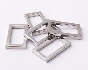 "Rectangle rings 15/16""inch 24mm rectangular buckles 3mm thickness Purse ring Strap Rectangle Ring for bags fingdings"