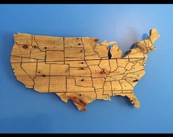 Hand Made United States with Border Lines