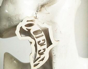 AfricanQueen Earring,Queen Earrings,Wood Queen Earrings,Lazer Africa Earrings,Wood Africa Earrings,Lazer Wood Earrings,Lazer Cut Earrings
