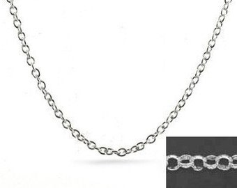 20 inch Rolo Chain, 3mm Rolo Necklace with Lobster Clasp, 925 Sterling Silver, Rollo Belcher Chain Necklace, 3mm Links