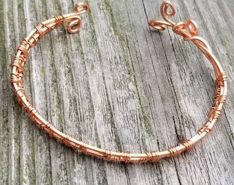 Weaved Copper Bangle