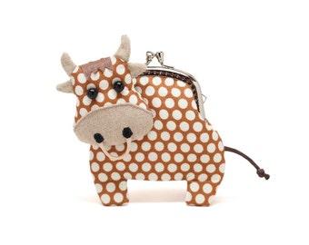 Kleine Schoko braune Kuh Kupplung Geldbeutel
