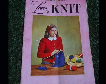 Clark's Learn to Knit 1950 Third Edition Book No. 234