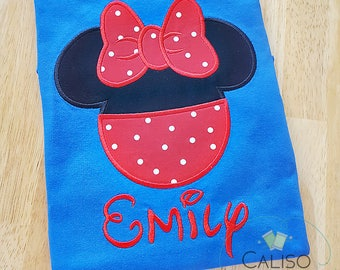 Family Vacation Mouse Ear Shirts - Custom Matching Family Tee - Vacation Magical Mouse Head - Applique Mickey Ears - Disney Shirts - WDW