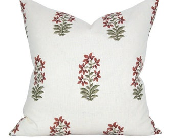 Udaipur pillow cover in Red