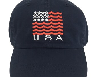Limited Edition Team USA Vintage Navy Hat // Summer Olympics Hat // American Flag Hat