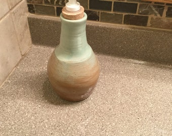 Deco green and brown Lotion bottle
