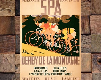 Bicycle Derby Vintage Ad, Bicycle Racing Ad, Vintage Bicycle Ad, Vintage Art, Giclee Art Print, fine Art Reproduction