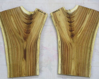 Craft Supplies- Bookmatched Mimosa- Crotch Figure-#1000-2