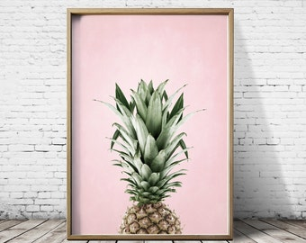 Pineapple Print Pineapple Wall Art Pineapple Art