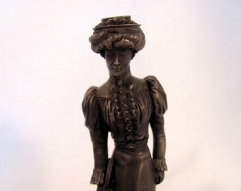 "Franklin Mint ""The Gibson Girl"" Pewter Figurine"